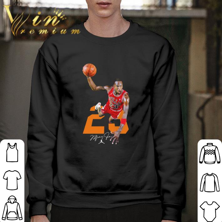 Pretty NBA Michael Jordan 23 signature shirt