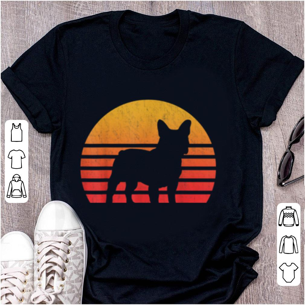 Pretty Vintage Retro Sunset French Bulldog Silhouette shirt