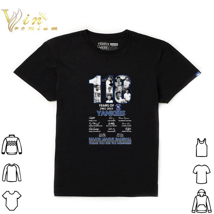 Top 118 Years Of New York Yankees 1901 2019 Signatures Shirt 1 1.jpg