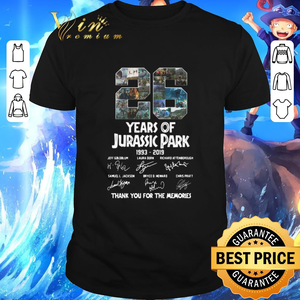 Top 26 Years Of Jurassic Park 1993 2019 Thank You For The Memories Shirt 1 1.jpg