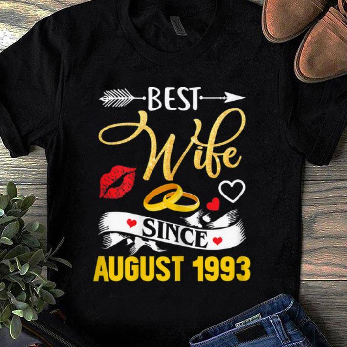Top 26th Wedding Anniversary Best Wife Since 1993 Shirt 1 1.jpg