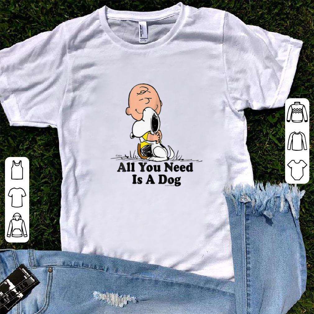 Top Snoopy Peanuts All You Need Is a Dog - Dog Lover shirt
