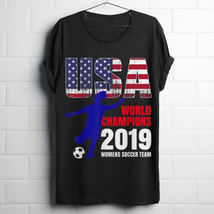 Top Usa Flag World Champions 2019 Womens Soccer Team shirt