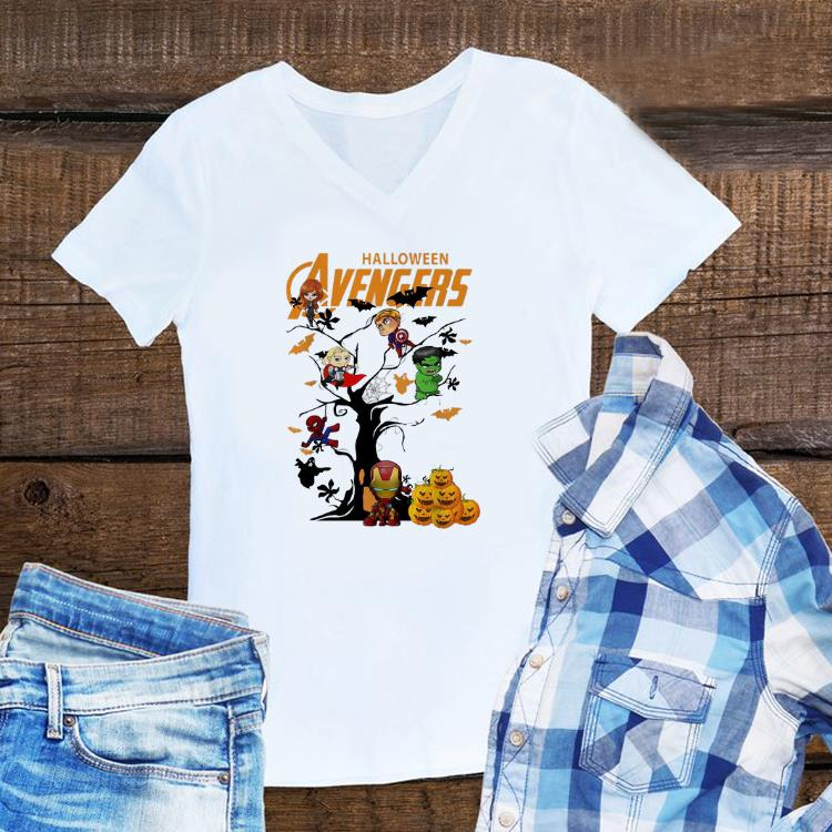 Awesome Avengers Character On Halloween Tree Shirt 1 1.jpg