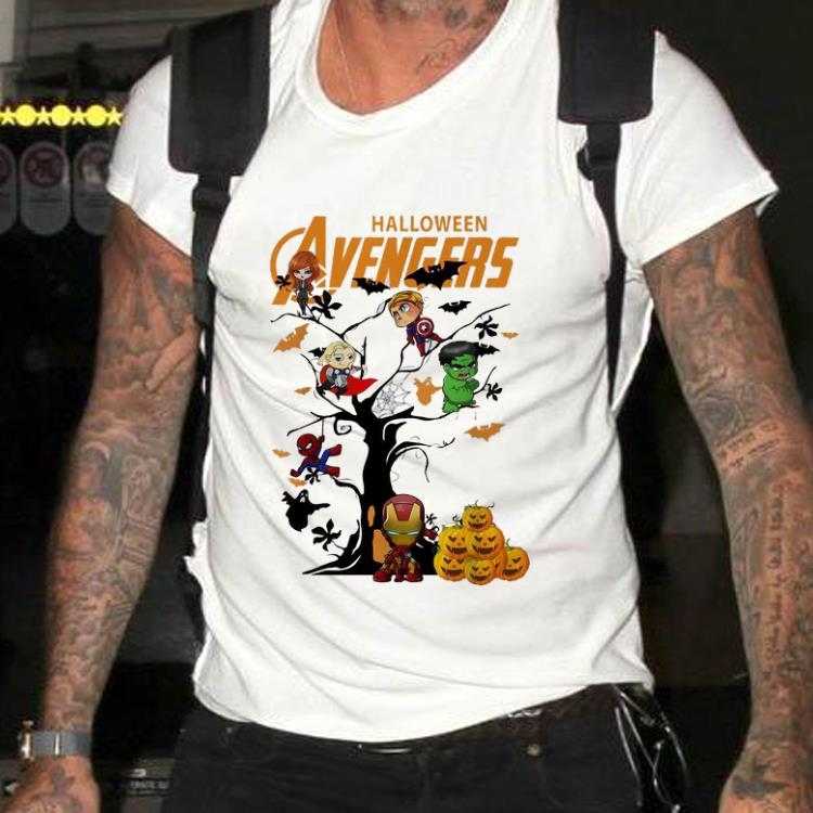 Awesome Avengers Character On Halloween Tree Shirt 2 1.jpg
