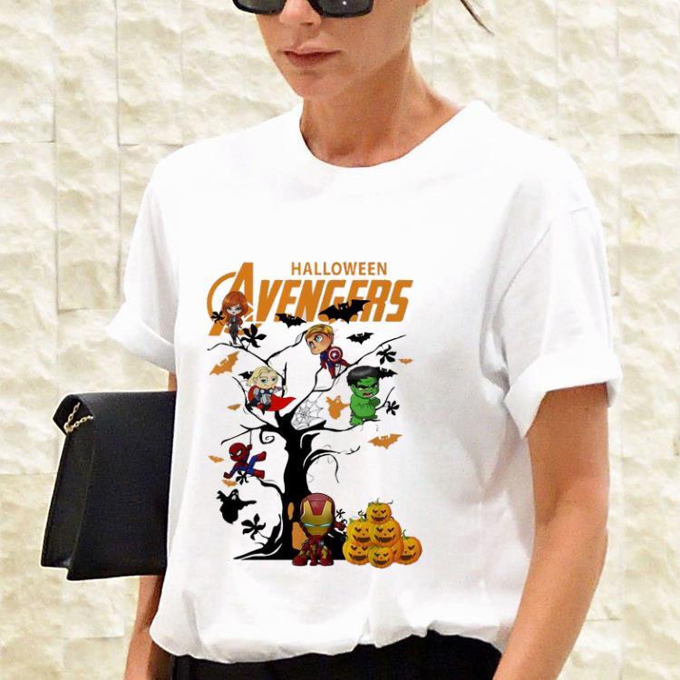 Awesome Avengers Character On Halloween Tree Shirt 3 1.jpg