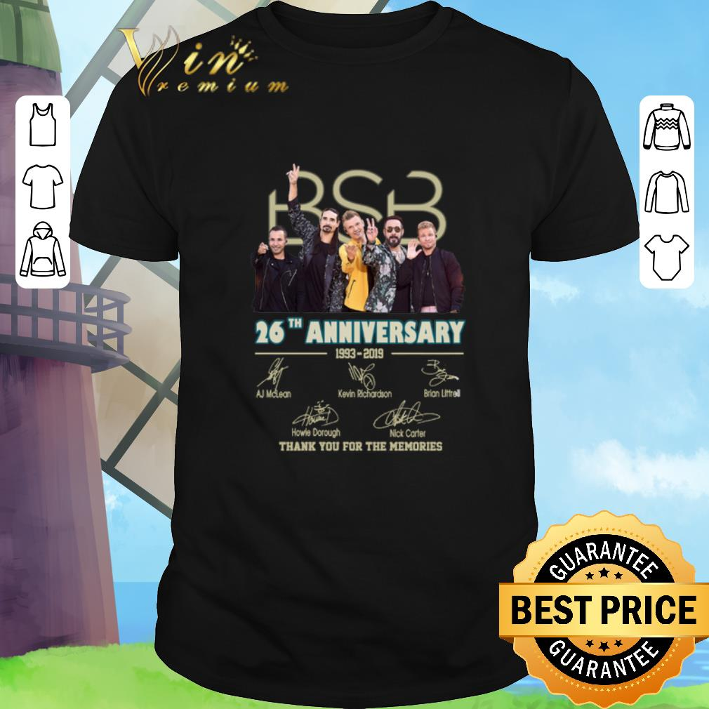 Backstreet Boys Christmas Sweater.Awesome Backstreet Boys Bsb 26th Anniversary 1993 2019 Signatures Shirt