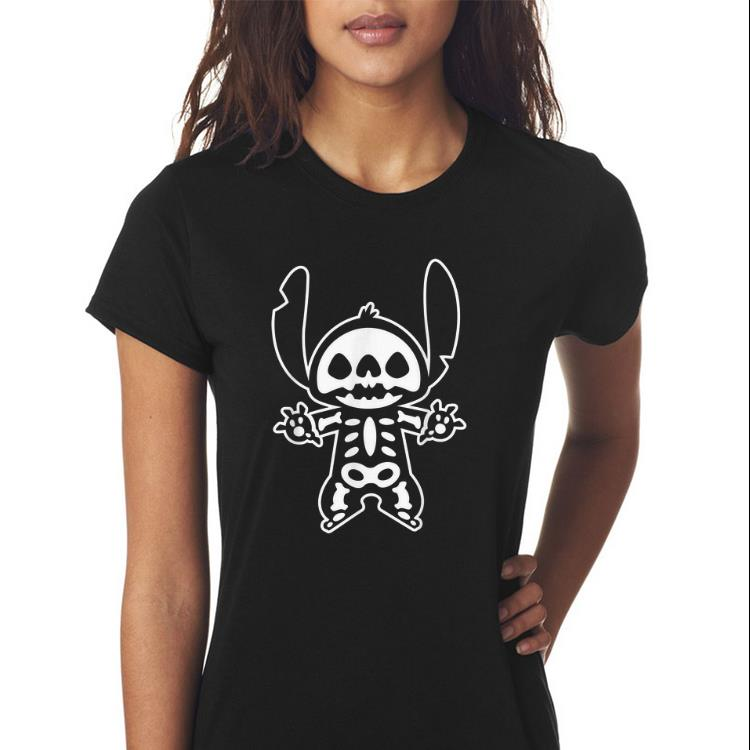 Awesome Disney Stitch Halloween Skeleton Shirt 3 1.jpg