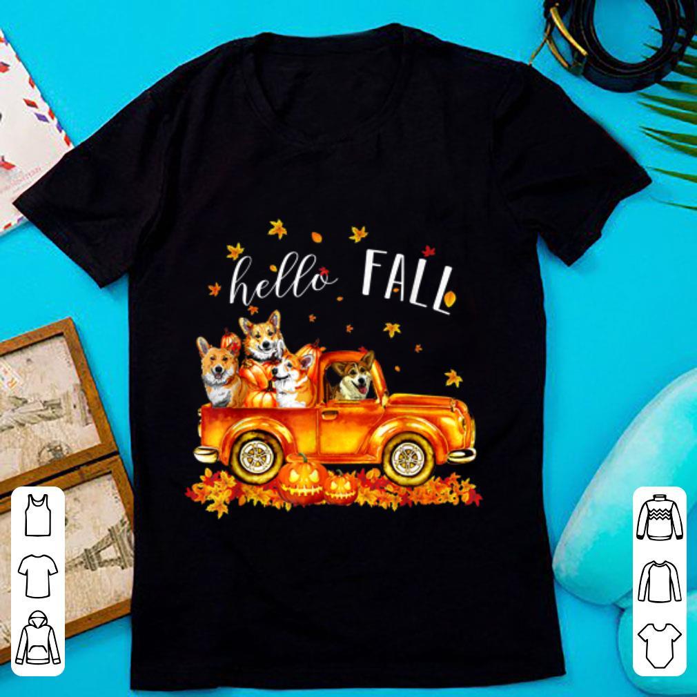 Awesome Halloween Hello Fall Corgi Funny Corgi gift shirt