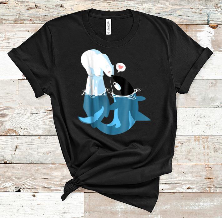 Awesome Killer Whale Cute Polar Bear Funny Kisses Shirt 1 1.jpg