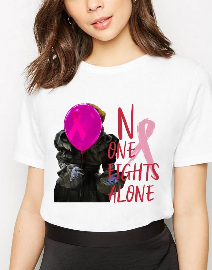 Awesome Pennywise No One Fights Alone Breast Cancer Awareness Shirt 3 1.jpg