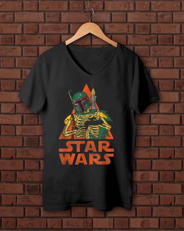 Awesome Star Wars Boba Fett Skeleton Halloween Costume shirt