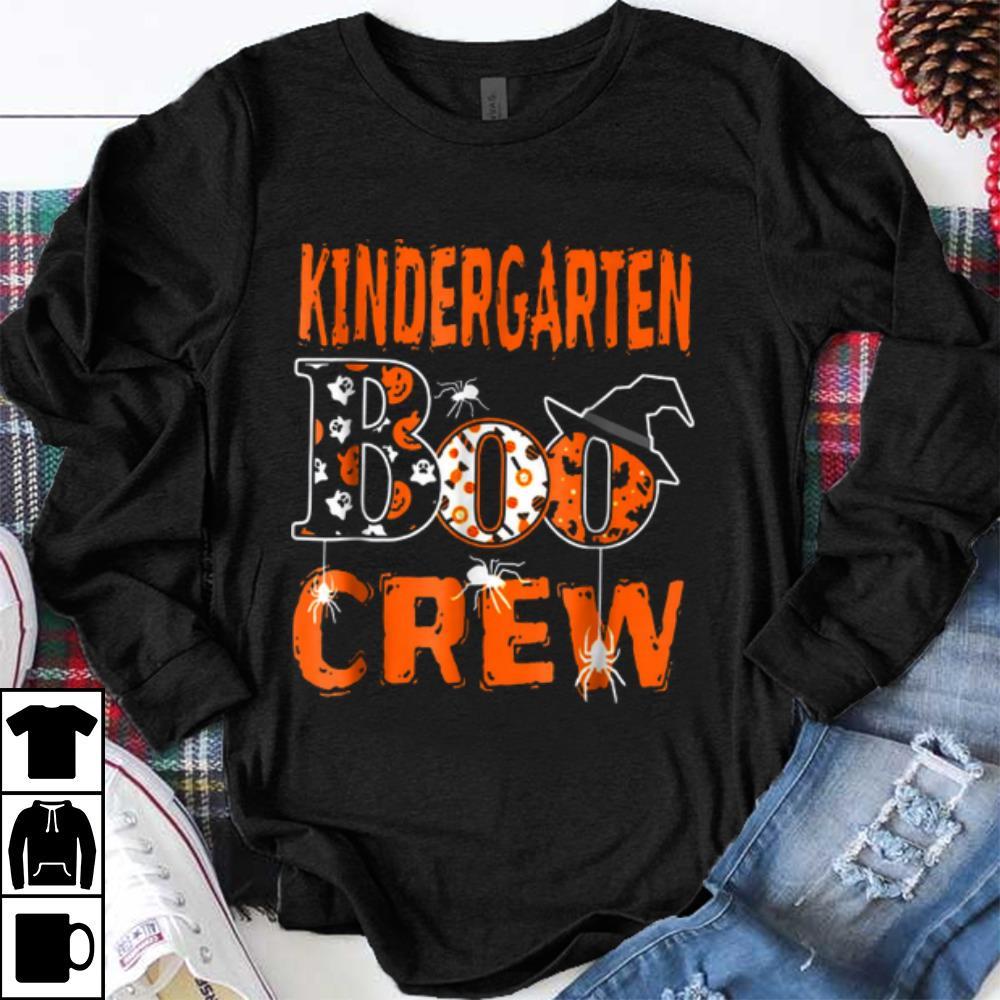 Halloween Kindergarten Boo Crew Teacher Kids Shirt 1 1.jpg
