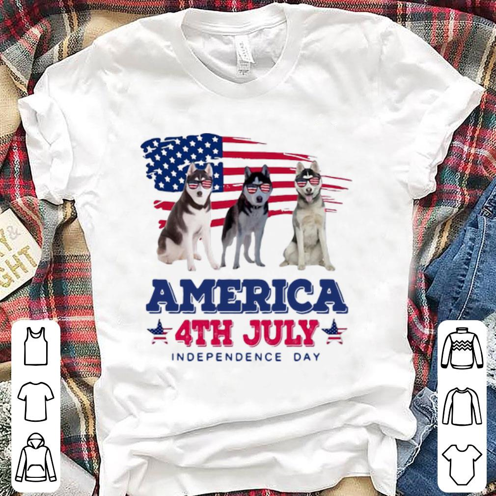 Hot American Flag 4th July Independence Day Siberian Husky shirt
