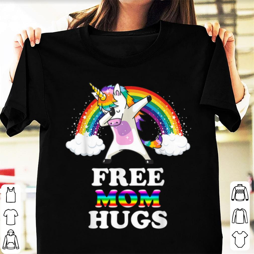 Hot Free Mom Hugs Unicorn Dabbing Rainbow Shirt 1 1.jpg