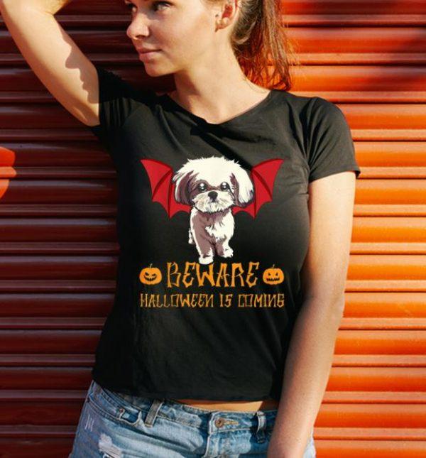 Hot Funny Shihtzu Beware Halloween Is Comings Shirt 3 1.jpg