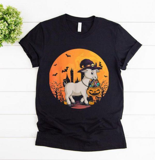 Hot Halloween Goat With Witch Hat Pumpkin Candy Bucket Shirt 1 1.jpg