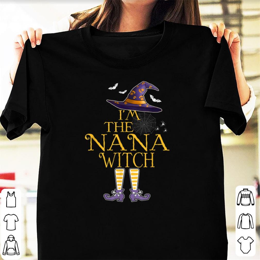 Hot I'm The Nana Witch Group Matching Halloween Costume shirt
