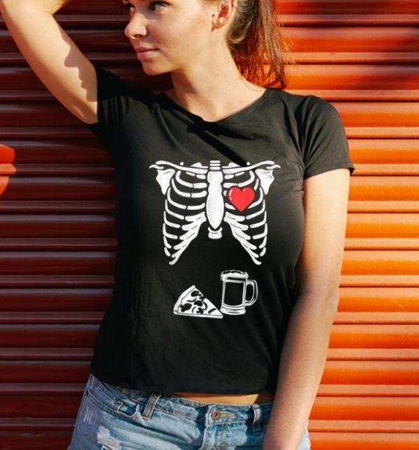 Hot Skeleton Pregnancy Pizza Beer Xray Halloween Soon Dad Shirt 3 1.jpg