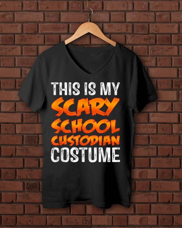 Hot This Is My Scary School Custodian Costume Funny Halloween shirt