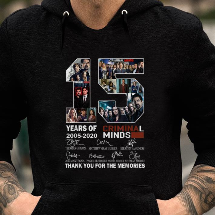Nice 15 Years Of Criminal Minds Thank You For The Memories Signature Shirt 2 1.jpg