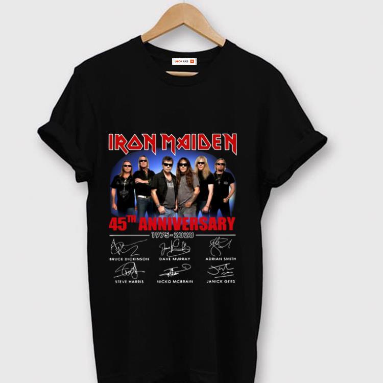 Nice Iron Maiden 45th Anniversary 1975 2020 Signature Shirt 1 1.jpg