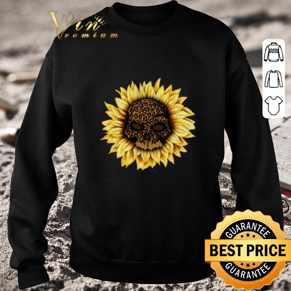 Nice Skull Sunflower Leopard shirt