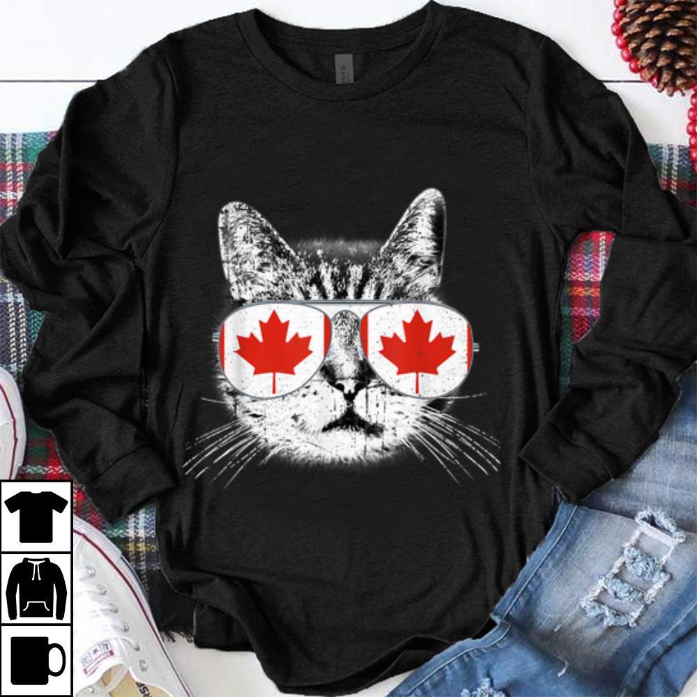 Official Canada Flag Canadian Cat Sunglasses Funny Men Women shirt