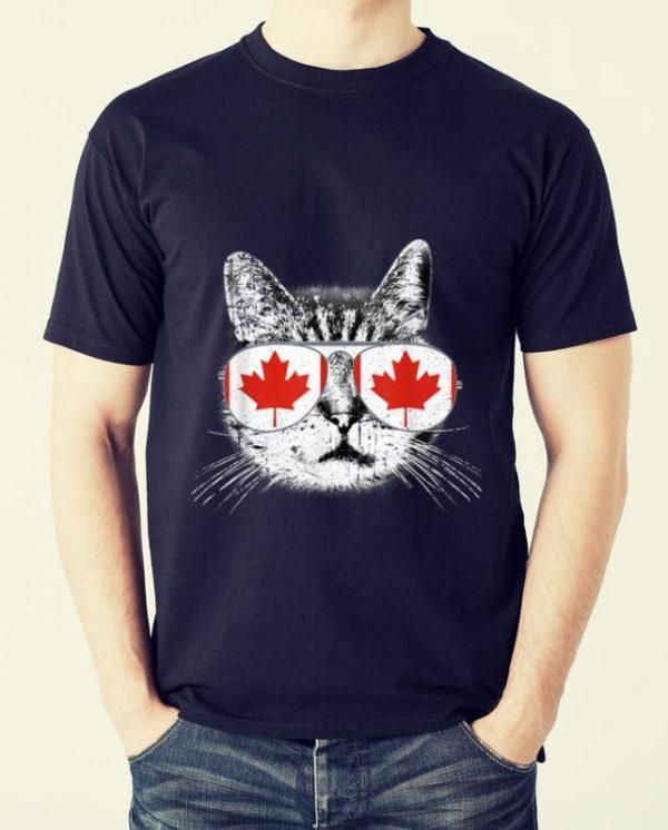 Official Canada Flag Canadian Cat Sunglasses Funny Men Women Shirt 2 1.jpg