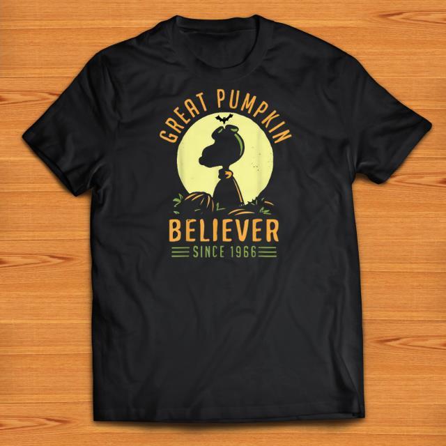 Official Great Pumpkin Believer Since 1966 Halloween shirts