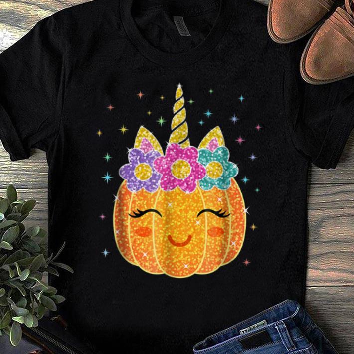 Official Pumpcorn - Unicorn Pumpkin Halloween Costume shirts