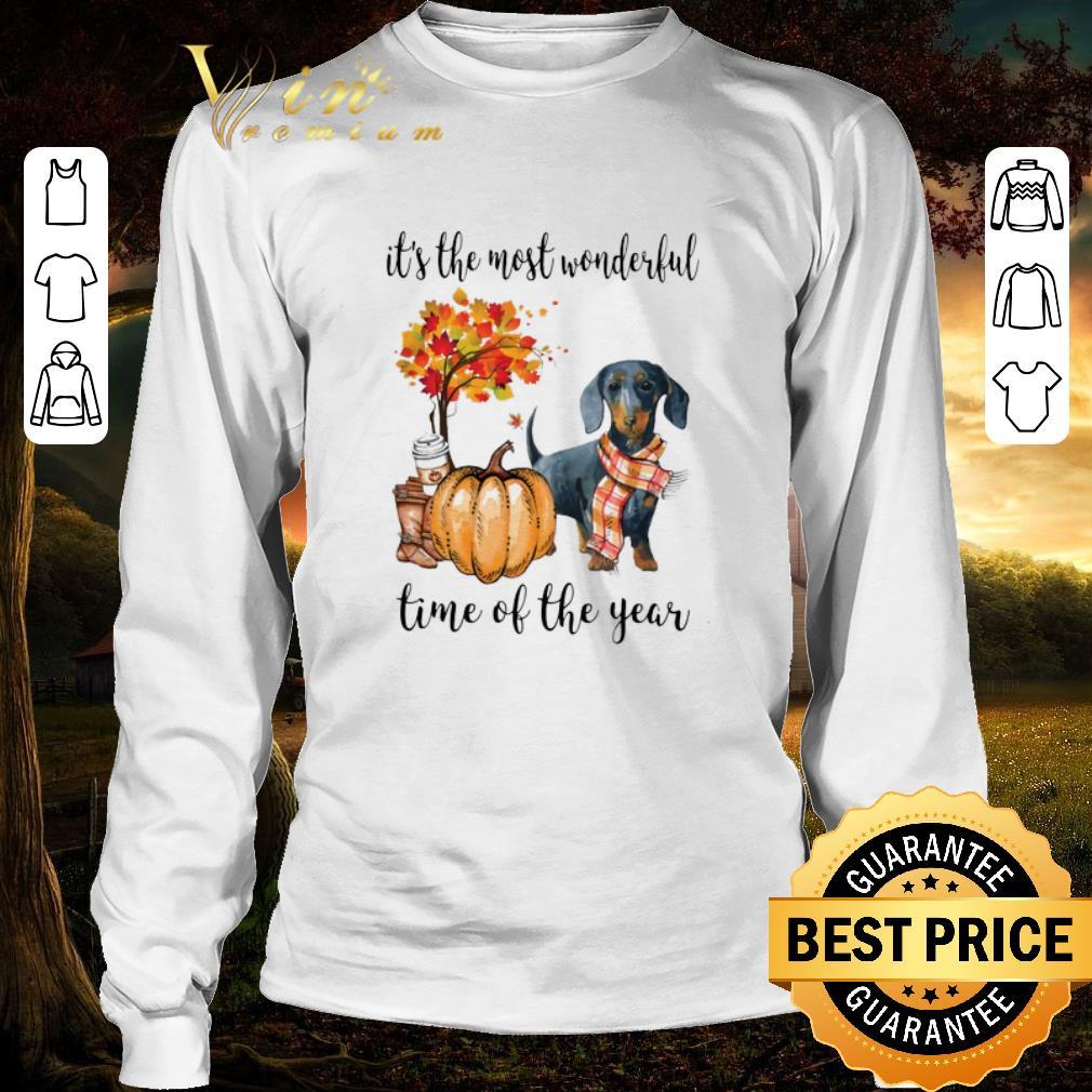 Original Dachshund It S The Most Wonderful Time Of The Year Autumn Shirt 3 1.jpg
