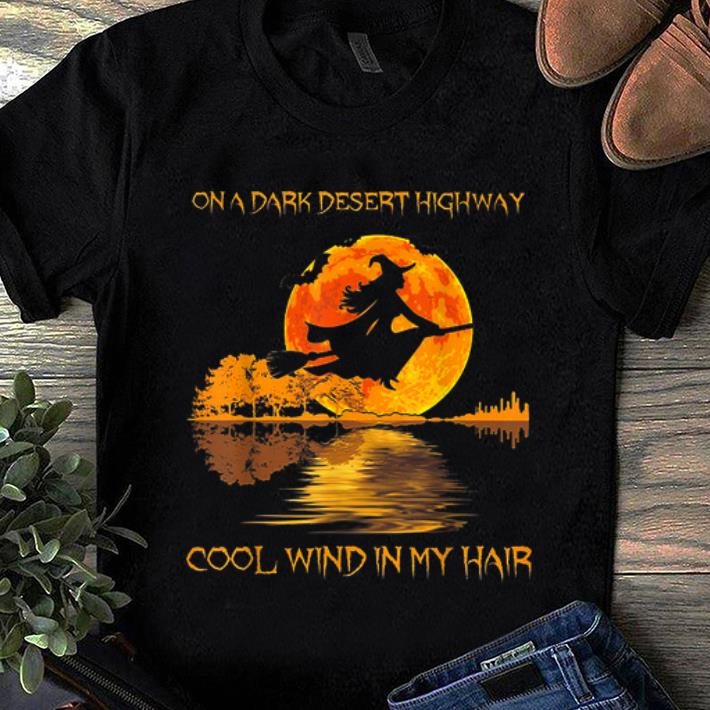 Original Guitar Lake Witch On A Dark Desert Highway Halloween shirt