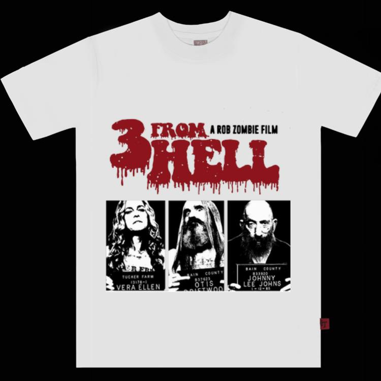 Original Rob Zombie 3 From Hell shirt