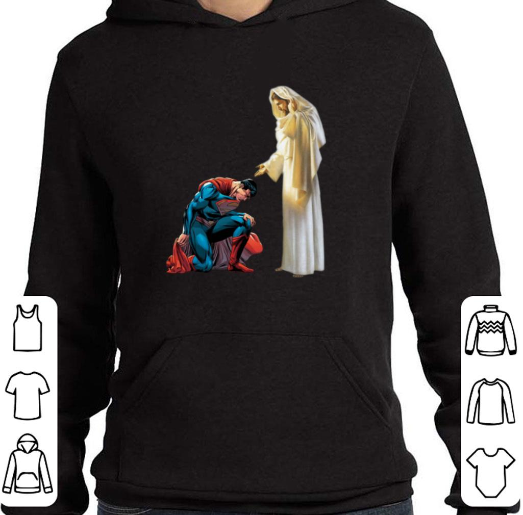 Original Superman Jesus He Who Kneels Before God Can Stand Before Anyone shirt