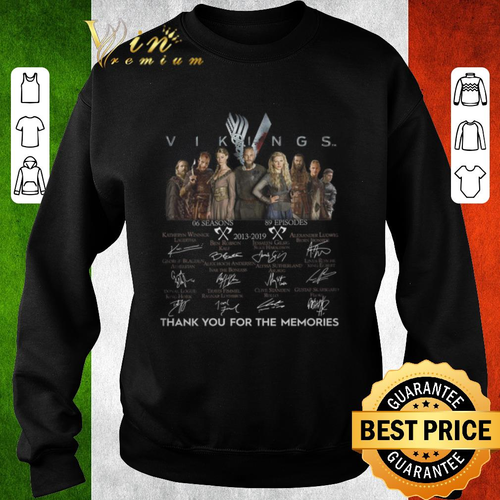 Original Vikings 2013-2019 signatures thank you for the memories shirt