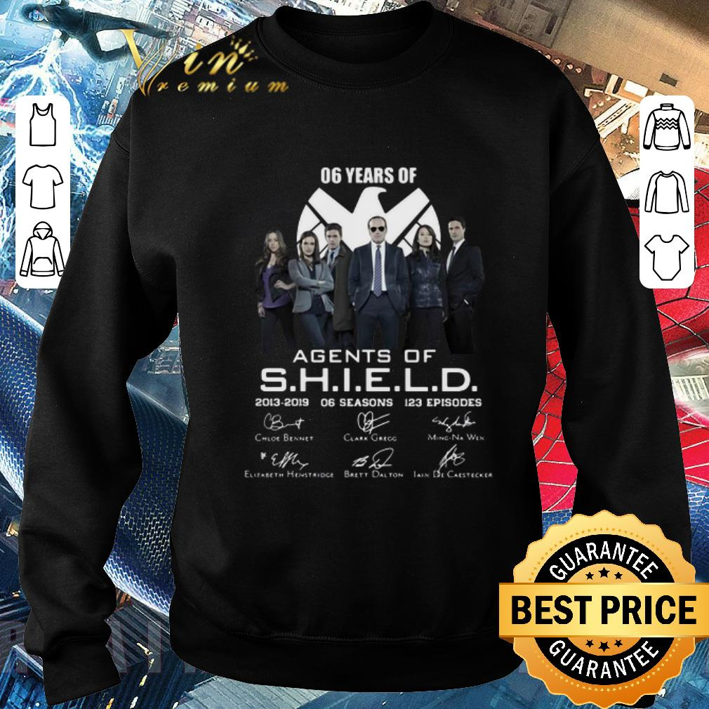 Premium 06 years of Agents Of SHIELD 2013-2019 06 seasons signatures shirt