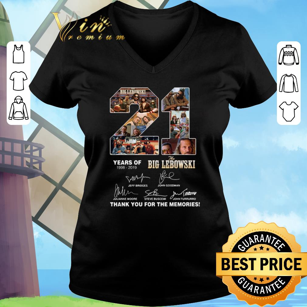 Premium 21 Years Of The Big Lebowski 1998 2019 Thank You For The Memories Shirt 3 1.jpg