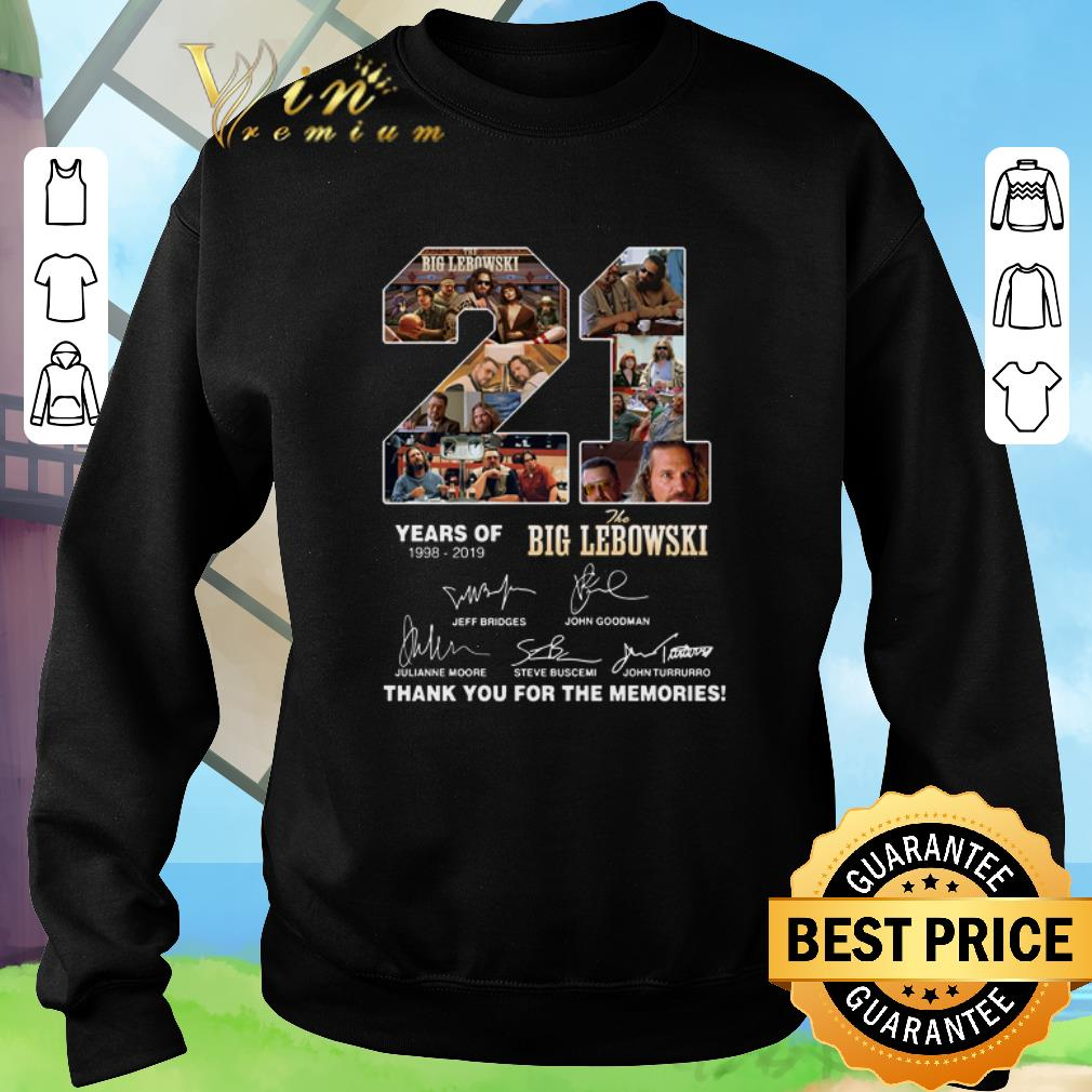 Premium 21 years of The Big Lebowski 1998-2019 thank you for the memories shirt