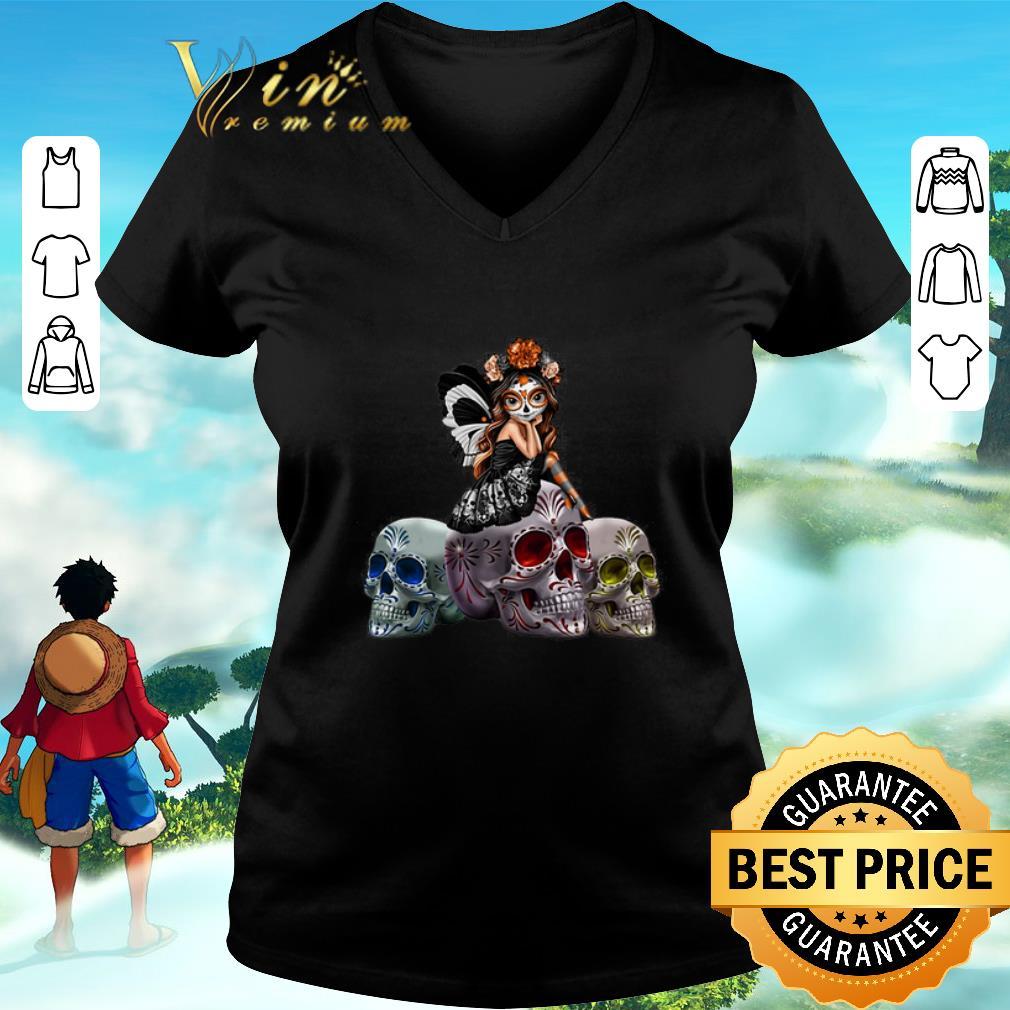Premium Butterfly Sit On Three Skull Spirit Of The Dearly Loved Figurine Shirt 3 1.jpg