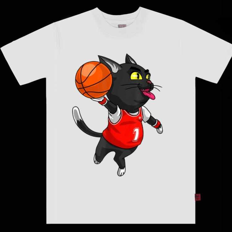 Premium Cat Basketball Dunk Sports Player Halloween Costume shirt
