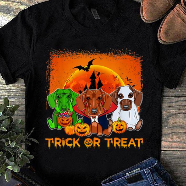 Premium Halloween Dachshund Trick Or Treat Dachshund Gift Shirt 1 1.jpg