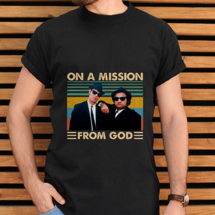 Premium On A Mission From God Vintage The Blues Brothers Shirt 2 1.jpg