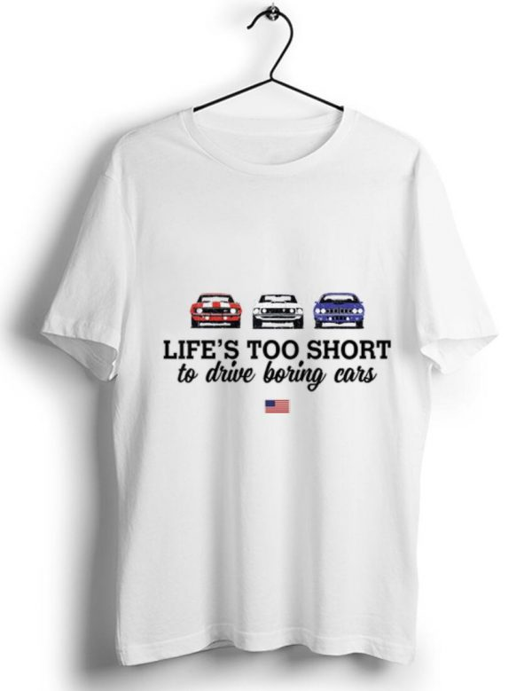 Pretty 1970 Plymouth Road Runner Life Too Short To Drive Boring Cars American Flag Shirt 1 1.jpg