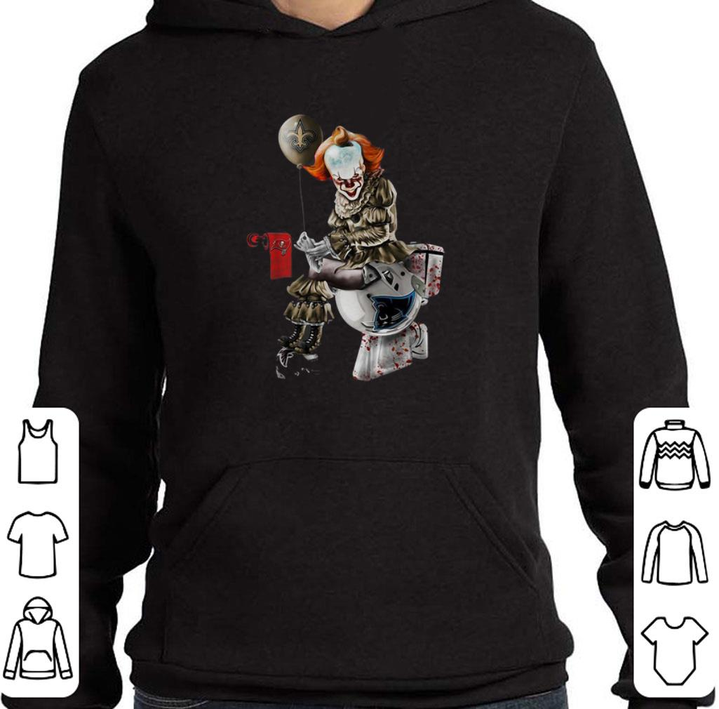 Pretty Pennywise New Orleans Saints Buccaneers Carolina Panthers toilet shirt