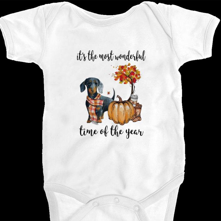 Top Dachshund it's the most wonderful time of the year shirt