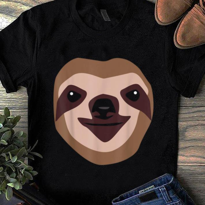Top Sloth Face Funny Cute Animal Halloween Costume Gift shirt