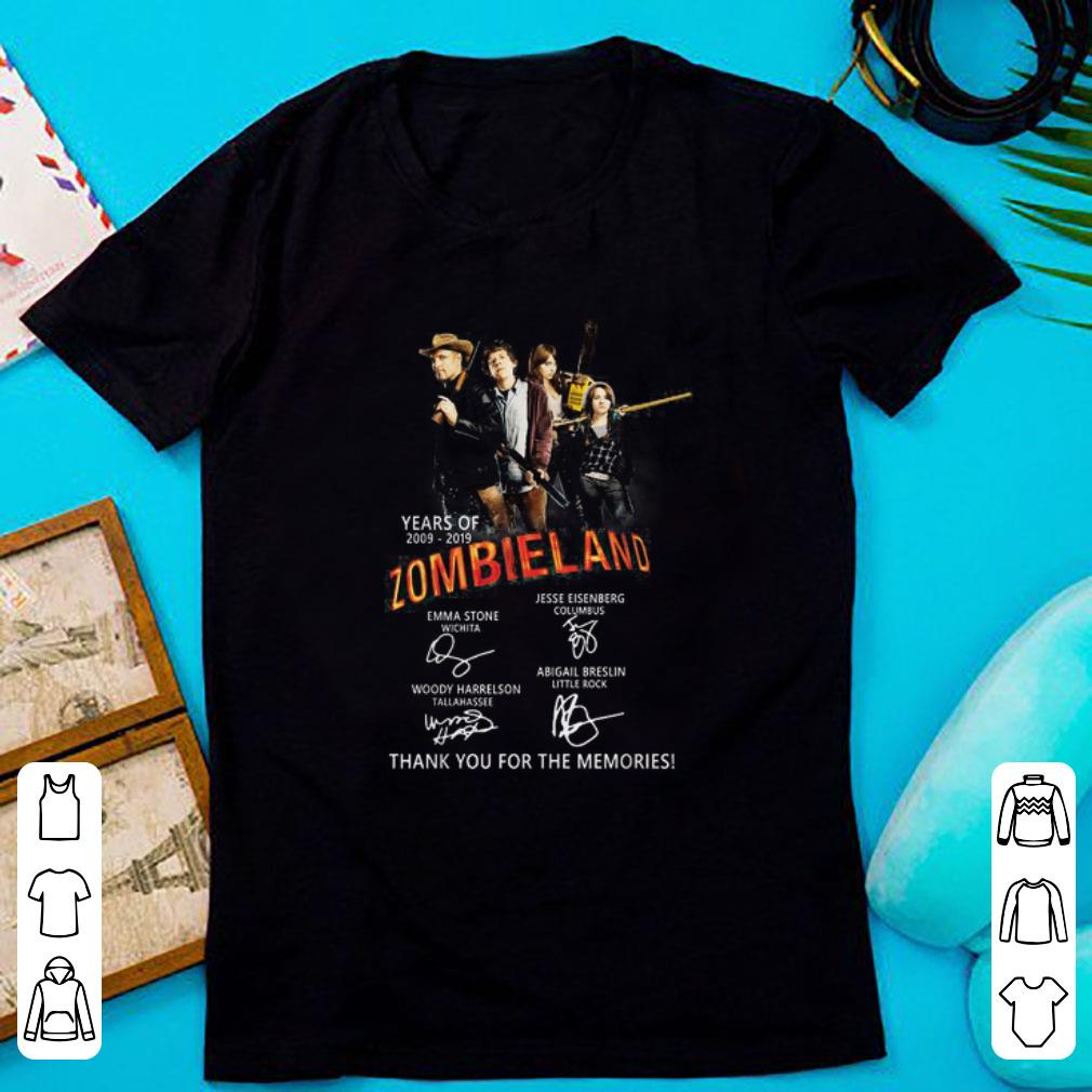 Top Zombieland 2 Years of 2009-2019 Thank You For The Memories shirt