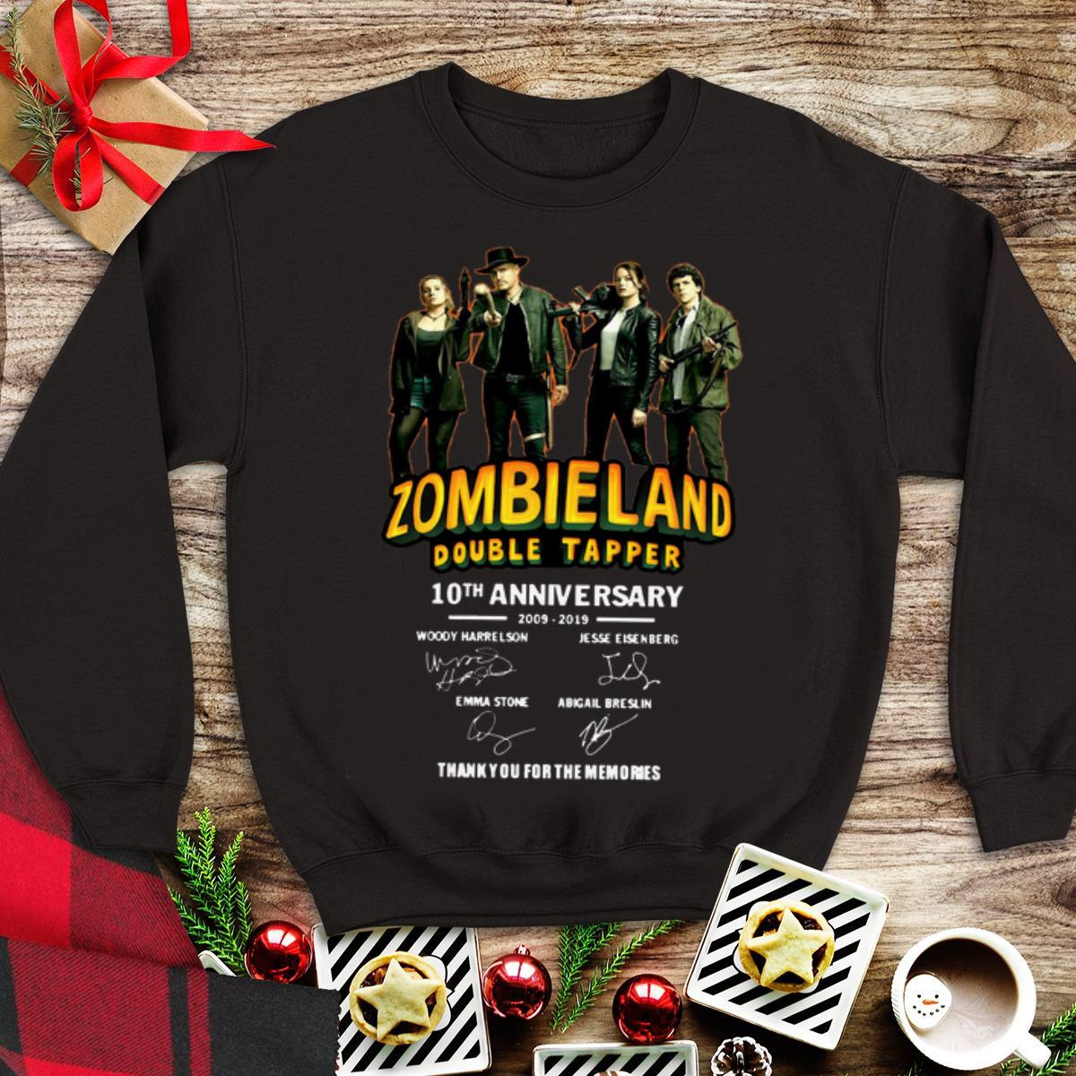 Awesome 10th Anniversary Zombieland Double Tapper Thank You For The Memories Signatures Shirt 1 1.jpg