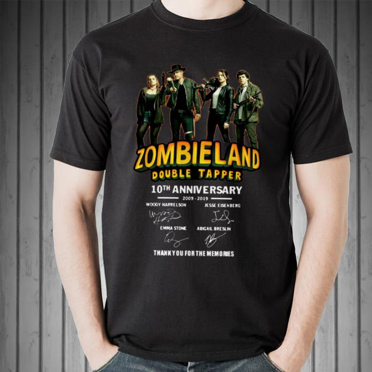 Awesome 10th Anniversary Zombieland Double Tapper Thank You For The Memories Signatures Shirt 2 1.jpg
